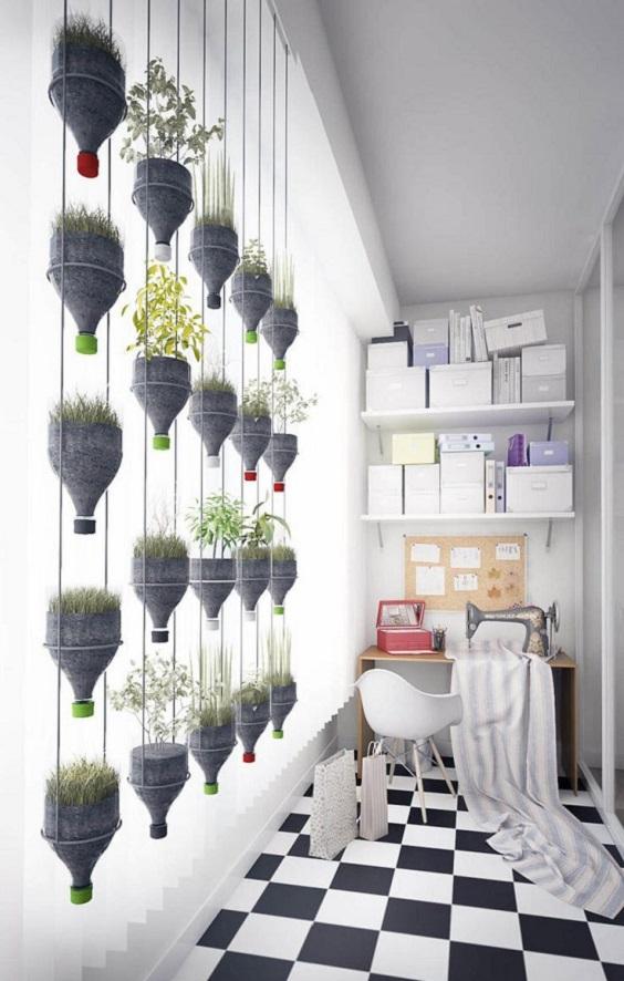 jardines colgantes en casa