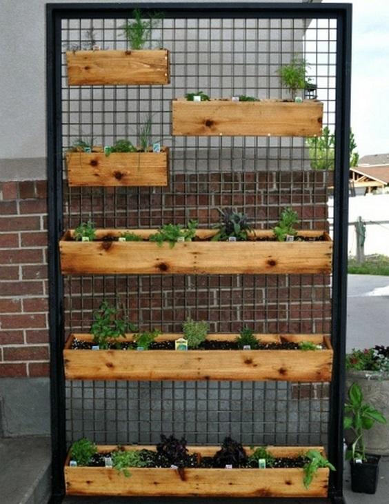 jardines verticales para patios pequeños